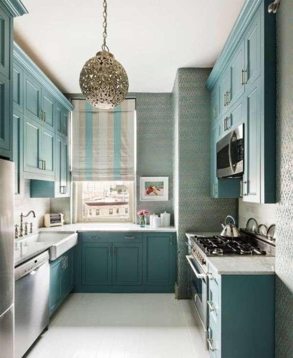 современный дизайн небольшой кухни, фото 24