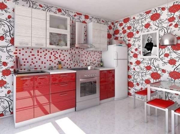 недорогие обои для кухни моющиеся, фото 37