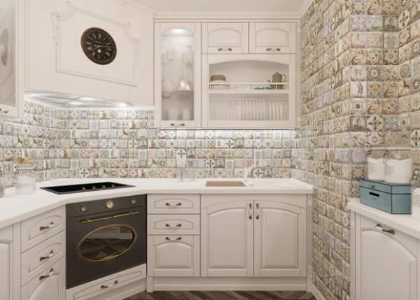 недорогие моющиеся обои для кухни фото, фото 38