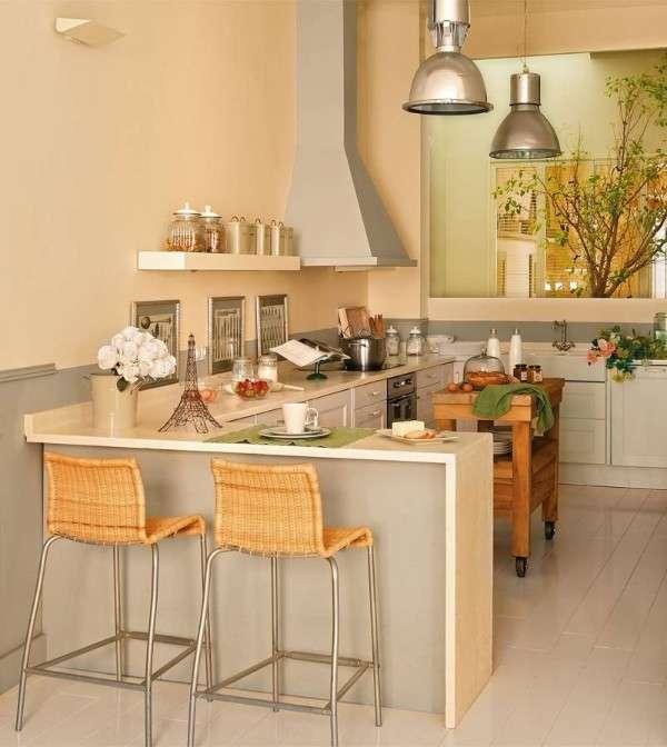 современная небольшая кухня, фото 52