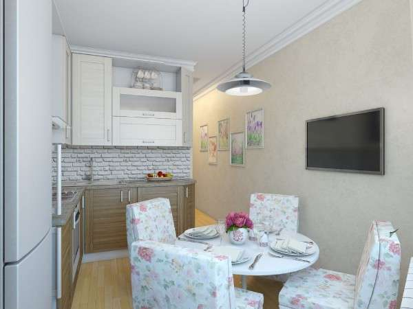 современная небольшая кухня, фото 54
