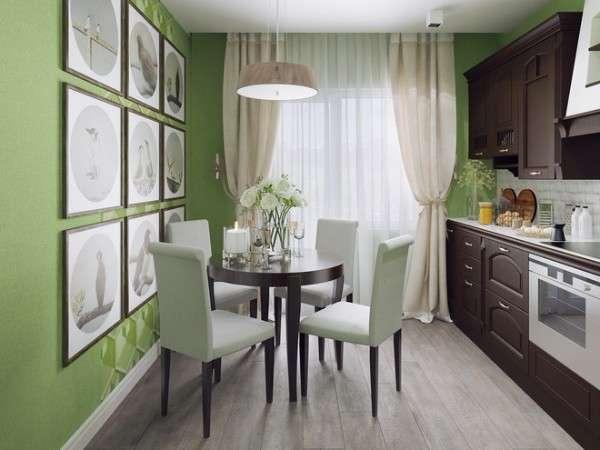 современная небольшая кухня, фото 55