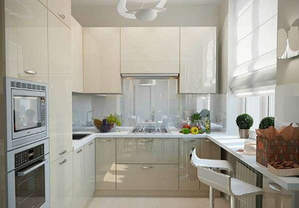 современная небольшая кухня, фото 57