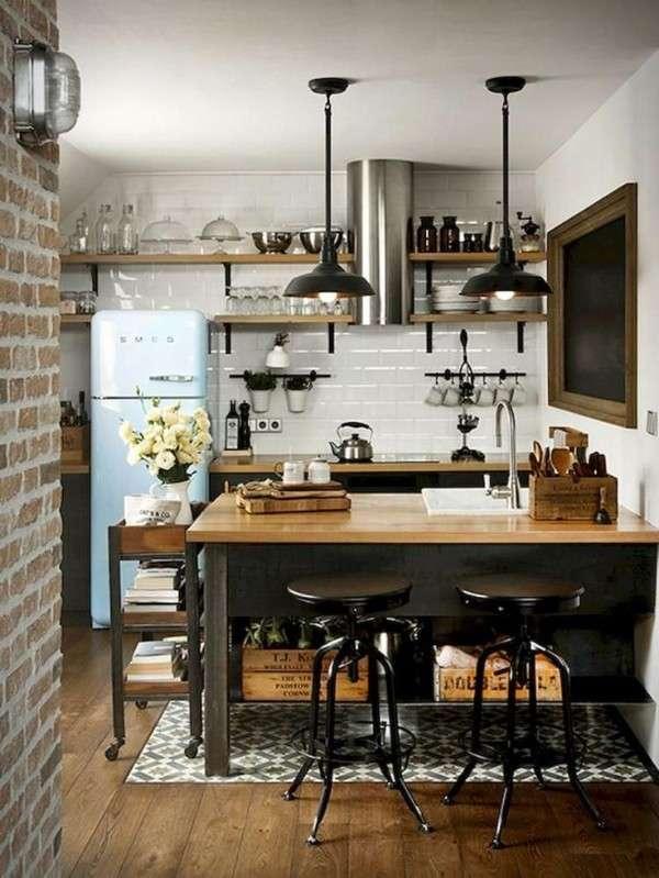 современная небольшая кухня, фото 58