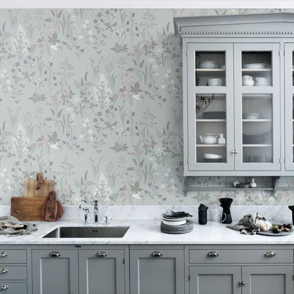 недорогие обои для кухни моющиеся, фото 51