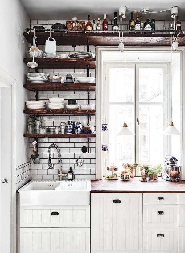современные идеи для маленькой кухни, фото 61