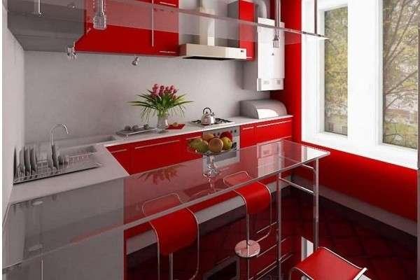 современный интерьер маленькой кухни, фото 36