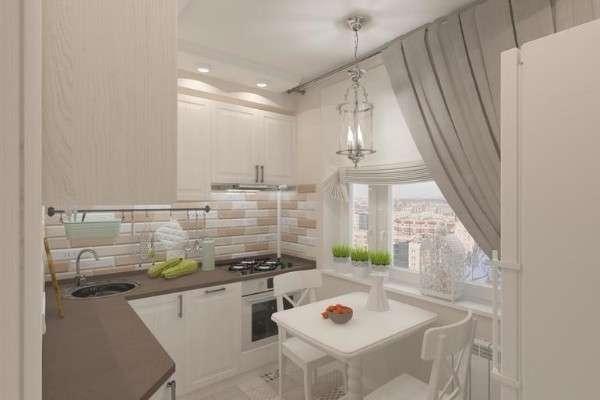 современная кухня 6 кв м, фото 37