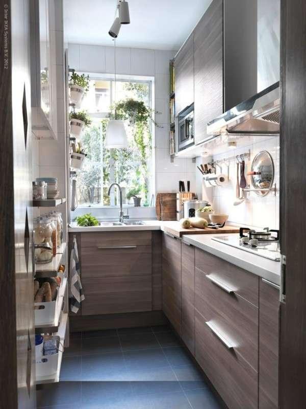 современный дизайн маленькой кухни, фото 66