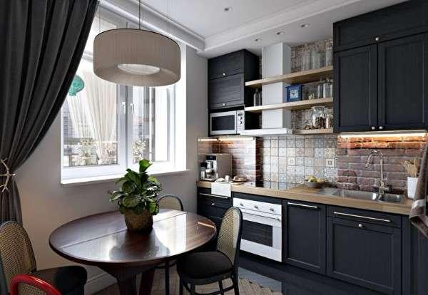 современный дизайн маленькой кухни фото, фото 67