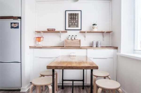 современный дизайн небольшой кухни, фото 69