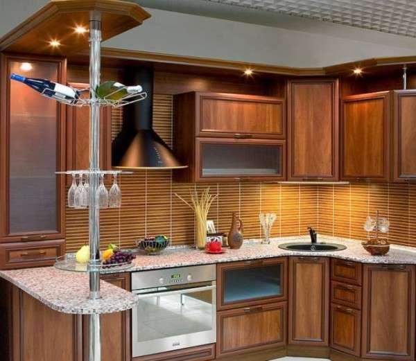 современные кухни с барной стойкой, фото 50