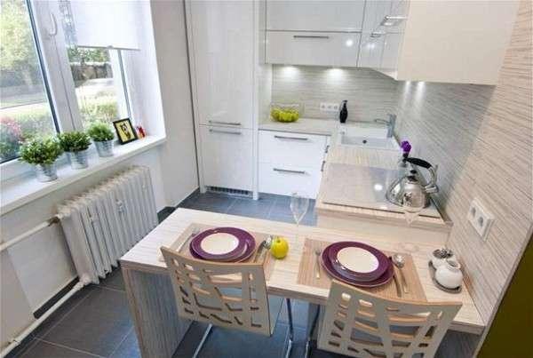 интерьер современной небольшой кухни, фото 27