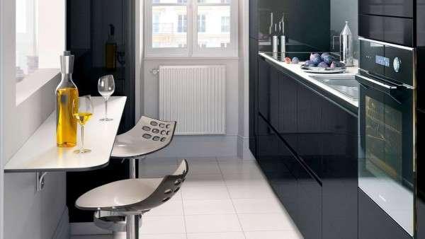 современная небольшая кухня, фото 5