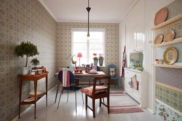 недорогие обои для кухни моющиеся, фото 9