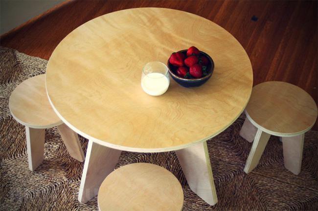 Обеденный стол из фанеры, фото 11