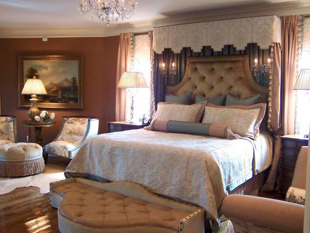 английский стиль в спальне
