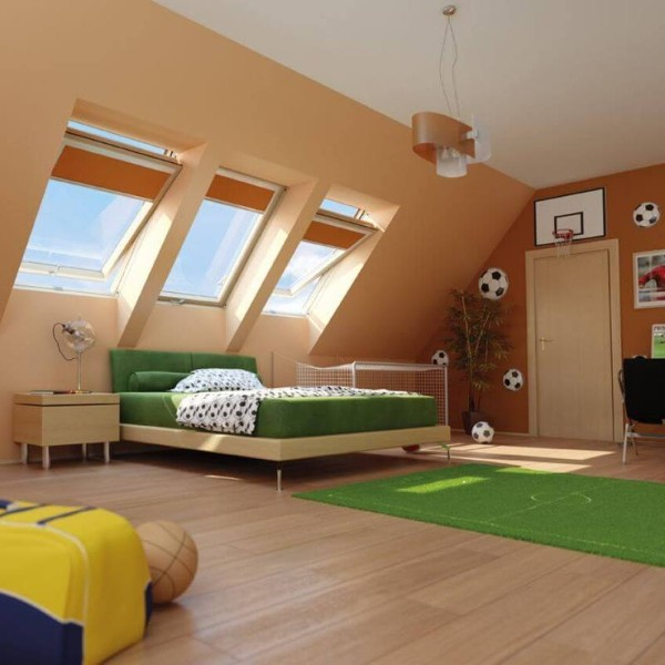 интерьер детской мансардной комнаты, фото 62