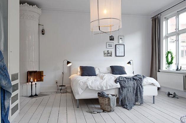 дизайн спальни скандинавский стиль
