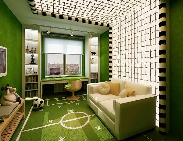 интерьер детской комнаты для школьника, фото 59