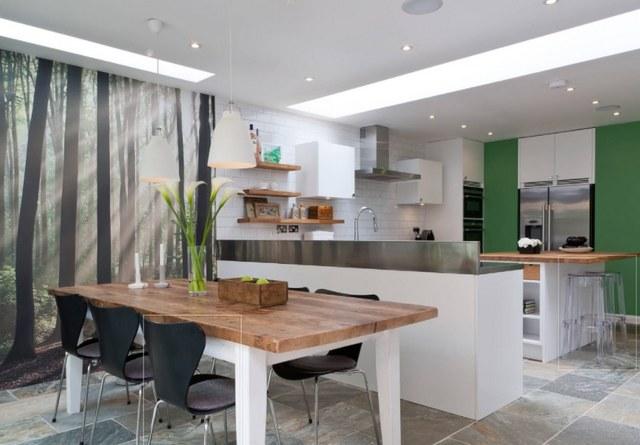 идеи обоев для кухни фото