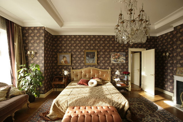 интерьер английской спальни