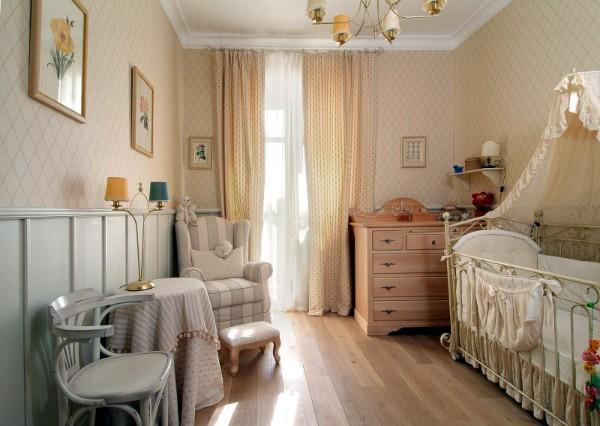 Интерьер для детской комнаты новорожденного, фото 48