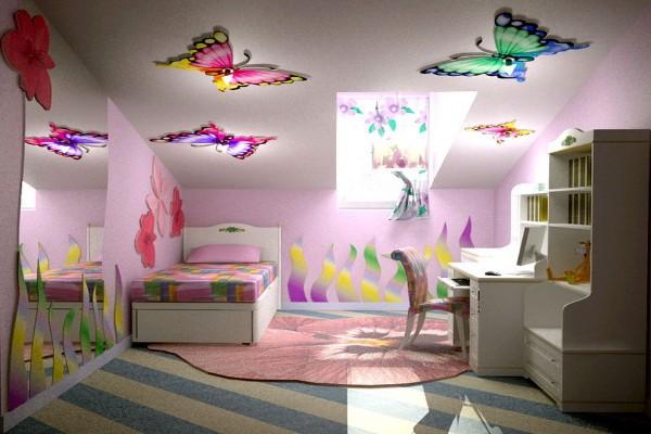 интерьер детской комнаты мансарда, фото 69