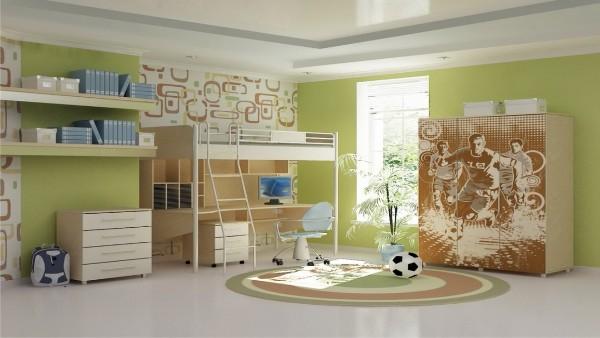Интерьер детской прямоугольной комнаты, фото 16