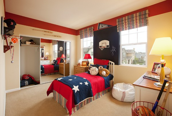 интерьер детской спальни для мальчика в американском стиле
