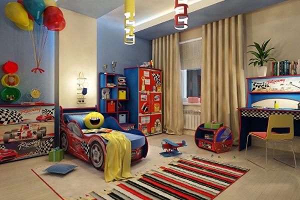 интерьер спальни для мальчика фото