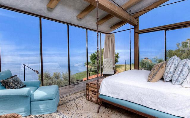 интерьер средиземноморской спальни фото