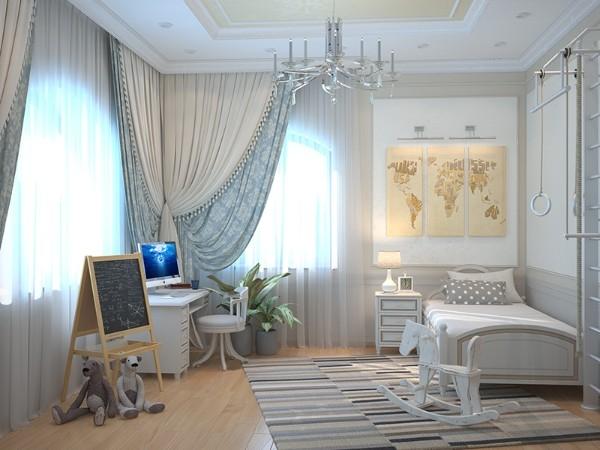 Интерьер детской комнаты в классическом стиле, фото 29