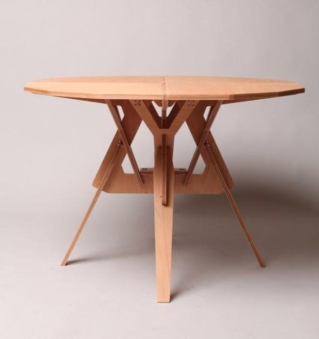 Обеденный стол из фанеры, фото 12