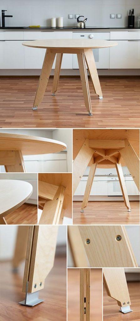 Обеденный стол из фанеры, фото 13