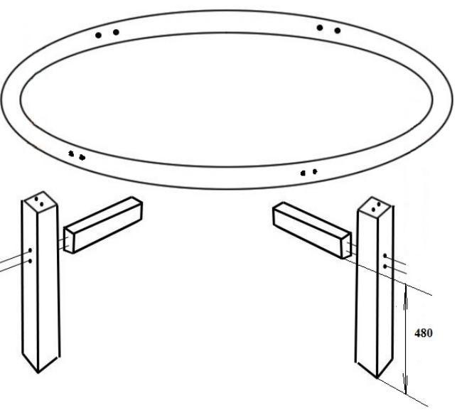Круглый стол из фанеры, фото 8