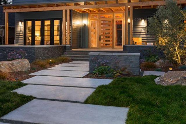 крыльцо для частного дома из бетона