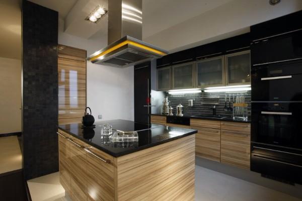 кухонная мебель в тёмных тонах