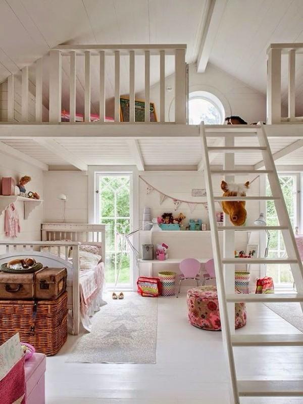 интерьер детской комнаты мансарда, фото 66