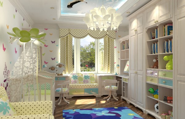 Интерьер детской комнаты в стиле прованс, фото 26
