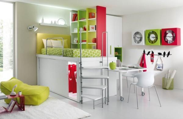 многофункциональный современный интерьер детской спальни