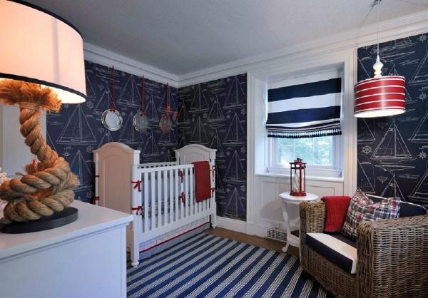 морской интерьер детской спальни