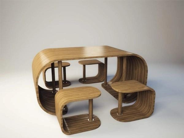 Креативный стол из фанеры, фото 9