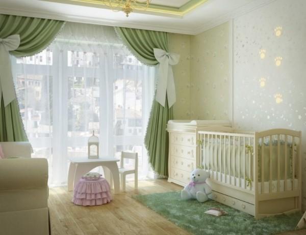 интерьер комнаты с детской кроваткой, фото 53