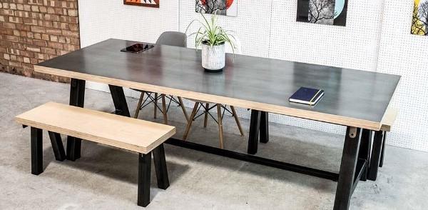 Креативный стол из фанеры, фото 17