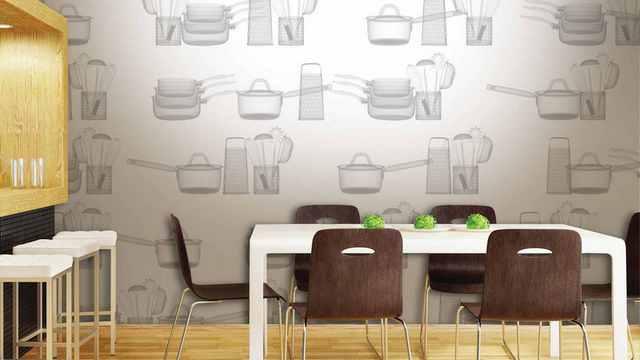 обои на кухню с рисунком