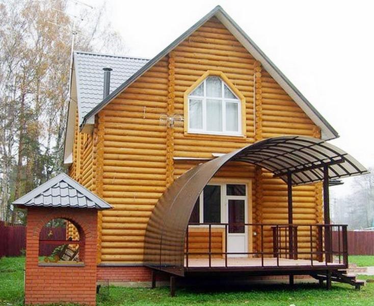 поликарбонатное крыльцо дома