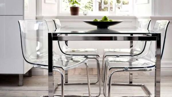 прозрачная кухонная мебель