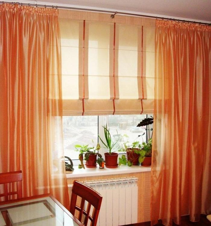 Римские шторы фото для пластиковых окон на кухне