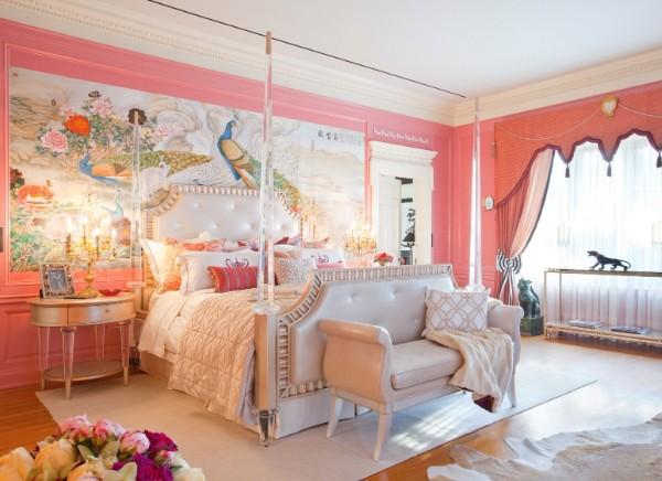 роскошный интерьер детской спальни для девочки в классическом стиле